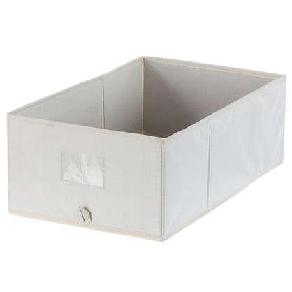 Купить Короб Spaceo без крышки 27х16x44 см нетканный материал цвет бежевый дешевле