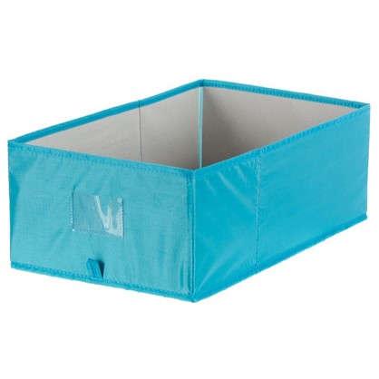 Короб Spaceo без крышки 27x16x44 см нетканный материал цвет голубой