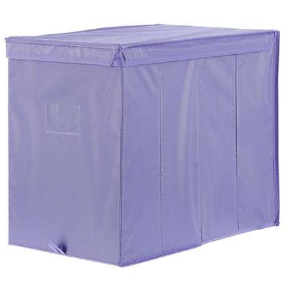 Короб Spaceo с крышкой 27х36x44 см нетканный материал цвет фиолетовый