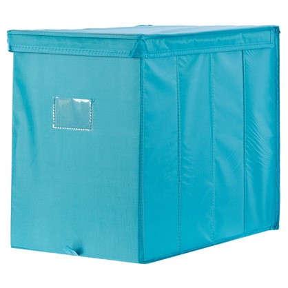 Купить Короб Spaceo с крышкой 27х36x44 см нетканный материал цвет голубой дешевле