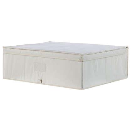 Купить Короб Spaceo с крышкой 55х18x44 см нетканный материал цвет бежевый дешевле
