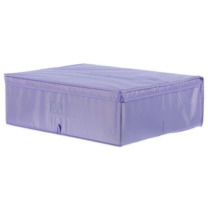 Короб Spaceo с крышкой 55х18x44 см нетканный материал цвет фиолетовый