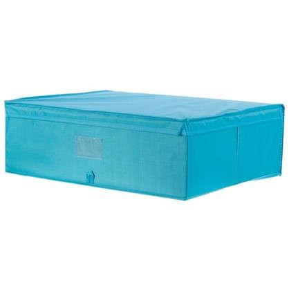 Купить Короб Spaceo с крышкой 55х18x44 см нетканный материал цвет голубой дешевле