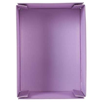 Купить Коробка 31x13x22.5 см картон цвет сиреневый дешевле