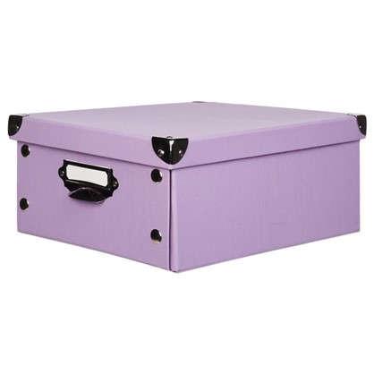 Купить Коробка 34x13.5x24 см картон цвет сиреневый дешевле
