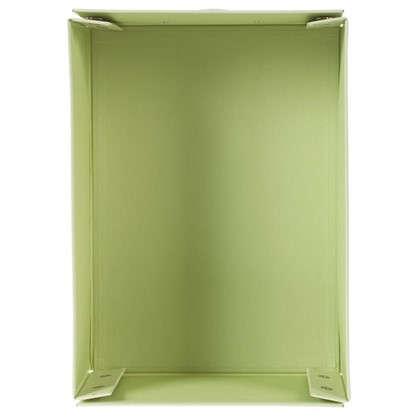 Купить Коробка 34x13.5x24 см картон цвет зеленый дешевле