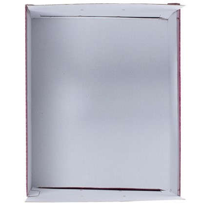 Коробка 39х24x50 см картон цвет бордовый