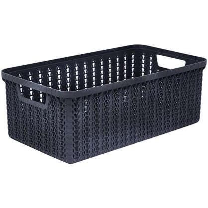 Купить Коробка для хранения Вязание 3 л цвет графит дешевле