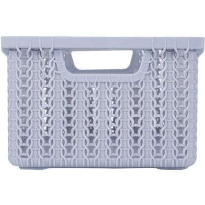 Купить Коробка для хранения Вязание 3 л цвет серый дешевле
