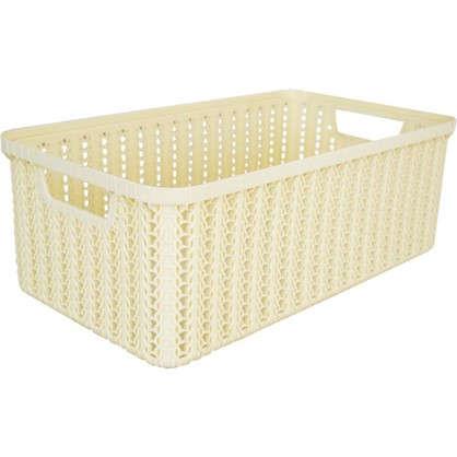 Коробка для хранения Вязание 6 л цвет слоновая кость