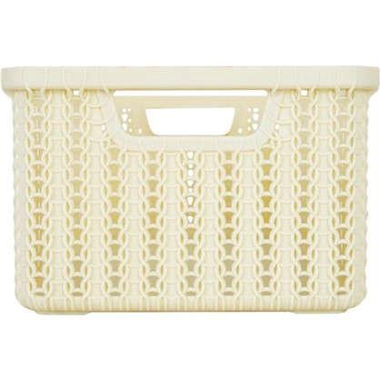 Купить Коробка для хранения Вязание 6 л цвет слоновая кость дешевле