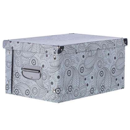 Купить Коробка картон 30x25x17.5 см узор дешевле