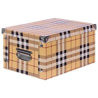 Купить Коробка картон 40x30x20 см клетка дешевле