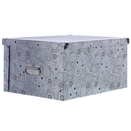 Купить Коробка картон 45x35x22.5 см узор дешевле