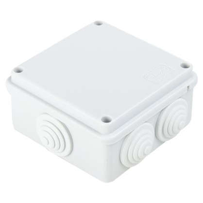 Коробка распределительная Экопласт100х100х55 мм цвет серый IP55