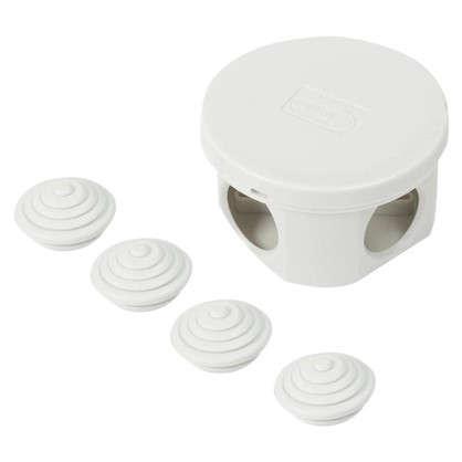 Коробка распределительная круглая Экопласт 65х35 мм цвет серый IP44