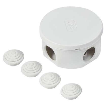 Купить Коробка распределительная круглая Экопласт 80х40 мм цвет серый IP44 дешевле