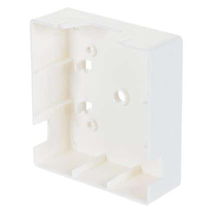 Коробка распределительная одномесная 74х20 мм цвет белый