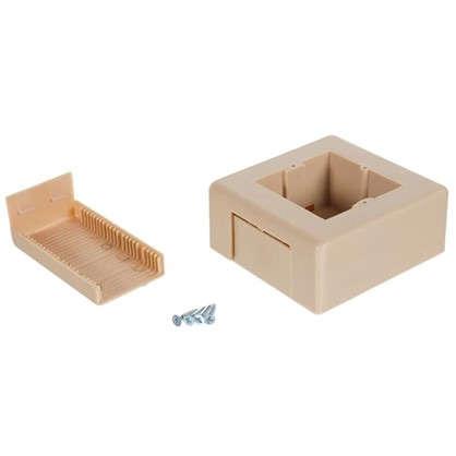 Коробка распределительная одномесная 74х20 мм цвет дуб