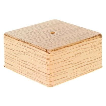 Коробка распределительная ОП 100х100х50 мм цвет дуб