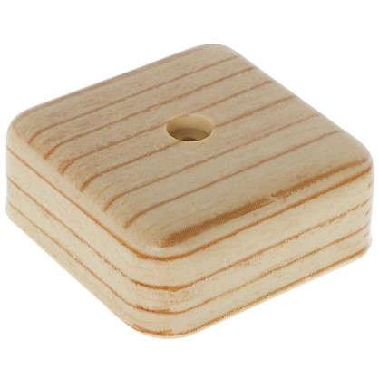 Коробка распределительная ОП 50х50х20 мм цвет сосна
