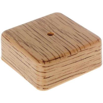 Купить Коробка распределительная ОП 75х75х28 мм цвет дуб дешевле