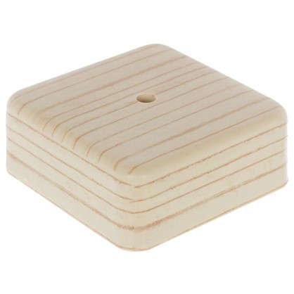 Купить Коробка распределительная ОП 75х75х28 мм цвет сосна дешевле