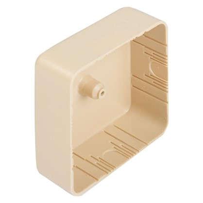 Купить Коробка распределительная TDM 75х75х28 мм цвет дерево IP40 дешевле
