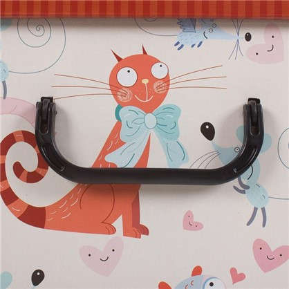 Коробка с ручками 39x50x24 картон кошки