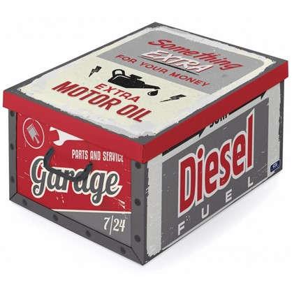 Купить Коробка с ручками Domo Pak Гараж 39х24x50 см картон дешевле