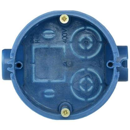 Купить Коробка установочная одноместная IEK для твёрдых стен 68х45 мм цвет синий дешевле