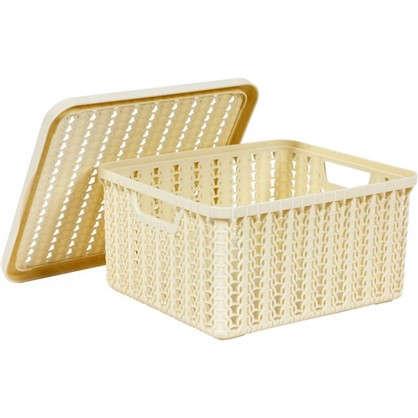 Купить Коробка Вязание 1.5 л с крышкой цвет с лоновая кость дешевле