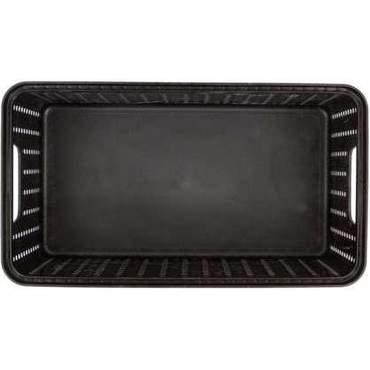 Коробка Вязание 3 л с крышкой цвет черный