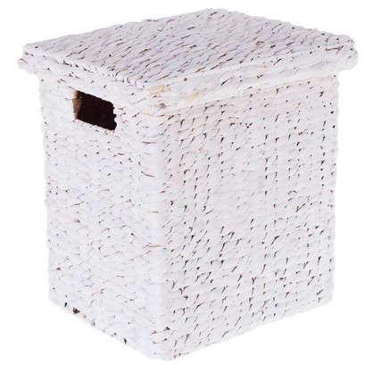 Корзина 33x36x28 см плетенье цвет белый