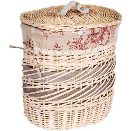 Купить Корзина Цветы Ободок 370х270х240 мм 33 л цвет бежевый дешевле