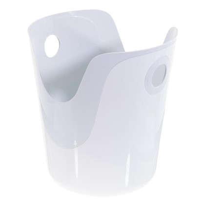 Корзина для белья 2 в 1 цвет белый