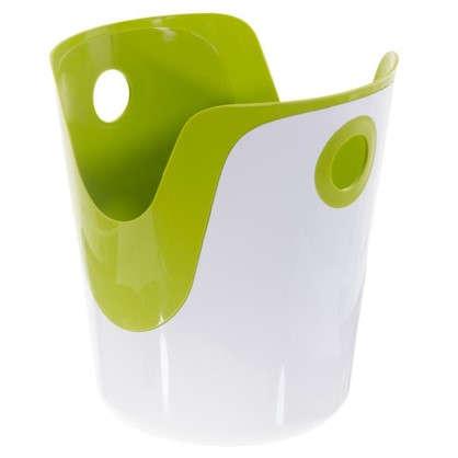 Корзина для белья 2 в 1 цвет зелёный