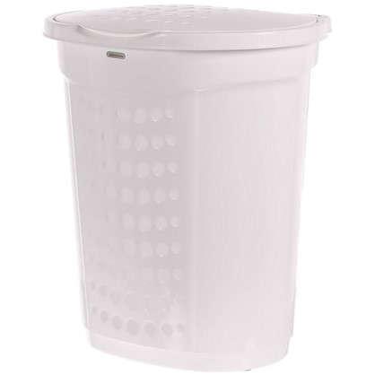 Купить Корзина для белья 60 л цвет белый дешевле