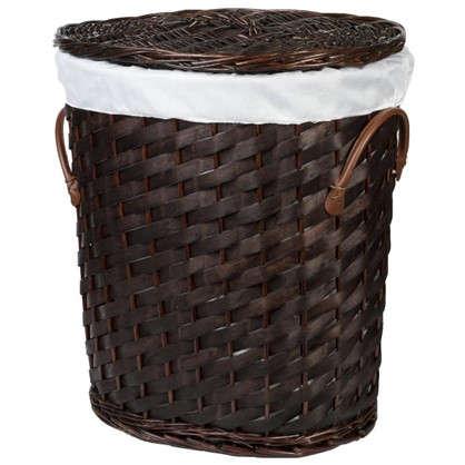 Купить Корзина для белья Овал плетёная цвет коричневый дешевле