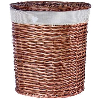 Корзина для белья Полоска цвет коричневый