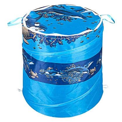 Корзина для белья Ракушка 43х55 см цвет голубой