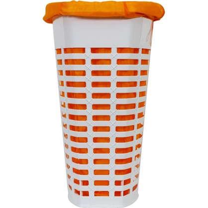 Корзина для белья с чехлом 470х360х600 мм цвет оранжевый