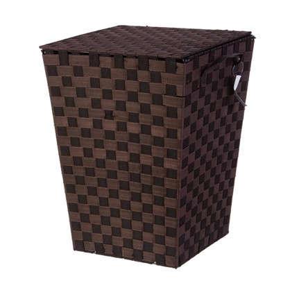 Купить Корзина для белья Storidea HXL09-N081 складной с крышкой полипропилен/металл цвет тёмно-коричневый дешевле