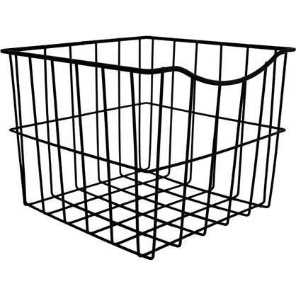 Корзина для белья в шкаф 25х25х20 см цвет чёрный