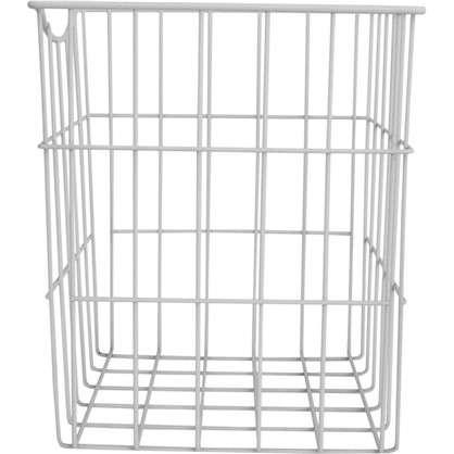Купить Корзина для белья в шкаф 25х25х30 см цвет белый дешевле