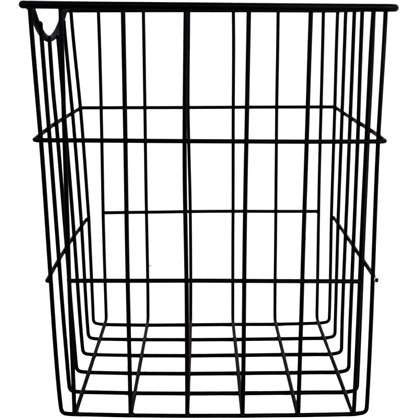 Корзина для белья в шкаф 25х25х30 см цвет чёрный