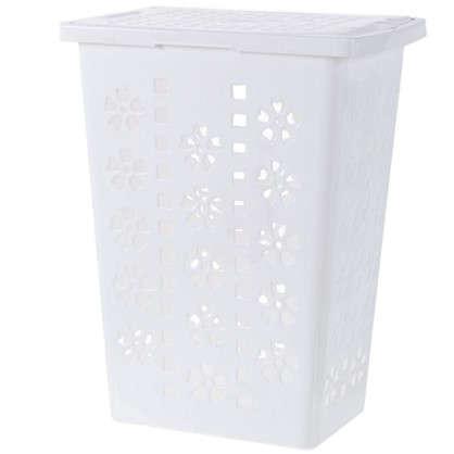 Купить Корзина для белья Виолетта 30 л полипропилен цвет белый дешевле