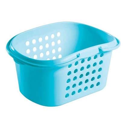 Купить Корзина для хранения Каплен с ручками полипропилен цвет голубой дешевле