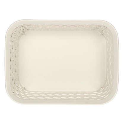 Корзина для хранения Ротанг 1 л 18.5х14х7 см цвет белый