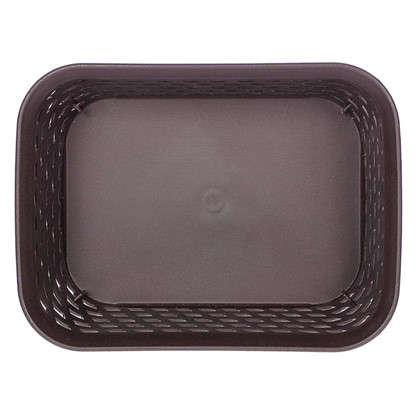 Купить Корзина для хранения Ротанг 1 л 18.5х14х7 см цвет коричневый дешевле